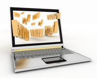 Laptop and WWW words Stock Photos