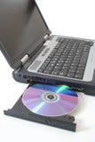 laptop wyrzucający obrazy stock