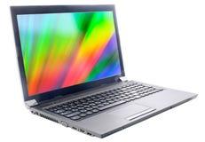 Laptop z kolor tapetami Zdjęcia Stock