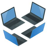 Laptop z pustym ekranem odizolowywającym na białym tle Laptop Obraz Stock