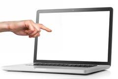 Laptop z pustym ekranem odizolowywającym na bielu Obraz Royalty Free