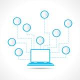 Laptop z wiadomości infograph Obraz Stock