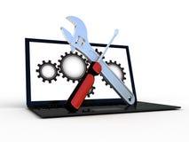 Laptop z wyrwaniem Obrazy Stock