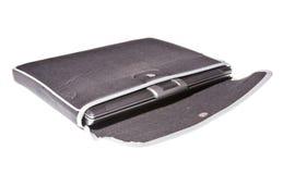 Laptop zak die op wit wordt geïsoleerdt stock afbeelding