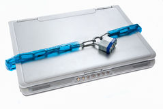 Laptop zamknięta Ochrona Zdjęcia Stock