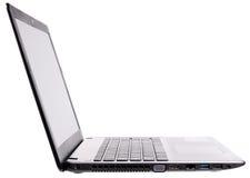 Laptop zij isometrische mening Royalty-vrije Stock Foto's