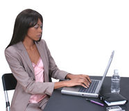 laptopa 01 kobieta Zdjęcie Stock
