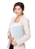 laptopa bizneswomanu young Obrazy Royalty Free