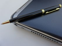 laptopa długopis Fotografia Stock