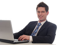 laptopa do biznesmena Zdjęcia Royalty Free