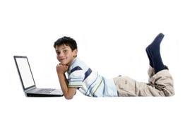 laptopa do chłopaków obrazy stock