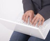 laptopa komputerowy white Zdjęcie Royalty Free