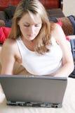 laptopa radio Zdjęcie Stock