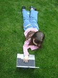 laptopa się odprężyć obraz stock
