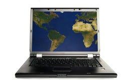laptopa świat Zdjęcie Royalty Free