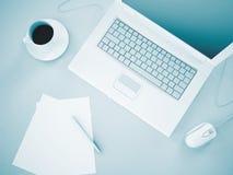 Laptopdokumente Lizenzfreies Stockfoto