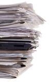 Laptope, Unterlagen, Nahaufnahme lizenzfreies stockfoto