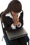 Laptophilfe Stockfotografie