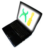 Laptophilfsmittel Stockfotos
