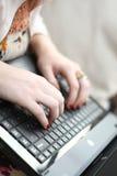 Laptopkommunikation Stockbild