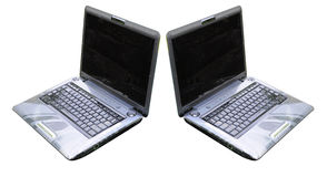Laptops. Two laptops on a white background