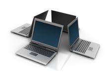 Laptops. Three dimensional illustration of Laptops Stock Photos