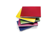 Laptops in assorted colors Stock Photos