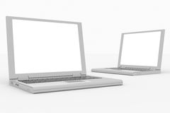 Laptops computer isolated on white. Royalty Free Stock Photos