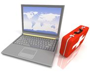 Laptops diagnostic Stock Photography