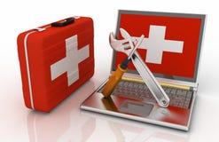 Laptops diagnostic Royalty Free Stock Image