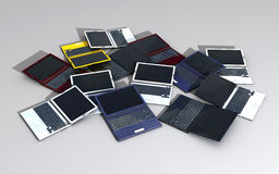 Laptops hill Royalty Free Stock Photo
