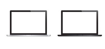 Laptops. Ice and black vector laptops Vector Illustration