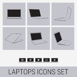 Laptops icons Stock Photography