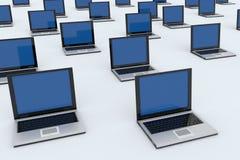 Laptops isolated on white Stock Photography