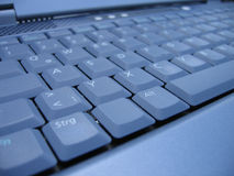 Laptops keyboard. Keyboard of a laptop from left side. German CTRL-key stock image
