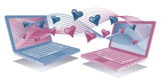 Laptops in Liefde Royalty-vrije Stock Afbeelding