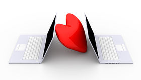 Laptops in Love Royalty Free Stock Photo