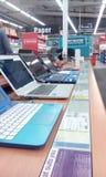 Laptops op vertoning Royalty-vrije Stock Afbeelding