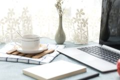 There are all kinds of office and daily necessities on the desk Royalty Free Stock Photo