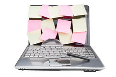 Laptops in plaats van Nota gewoonlijk blad. Royalty-vrije Stock Foto