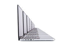 Laptops in Row Royalty Free Stock Photography