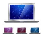 Laptops with trendy backgrounds - vector  Stock Photo