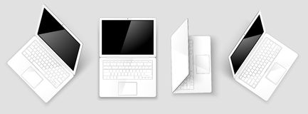 laptops Vettore Immagine Stock Libera da Diritti