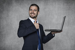 Laptops zijn de toekomst in zaken royalty-vrije stock foto