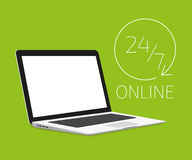 Laptopschablone Lizenzfreies Stockbild