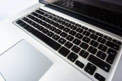 Laptoptastatur lokalisiert Stockbilder