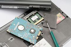 Laptopteile stockfotos