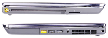 Laptopu bocznego widok set Obrazy Royalty Free