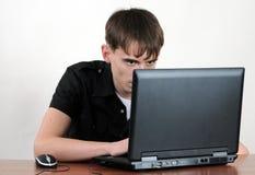 laptopu działanie zdjęcia royalty free