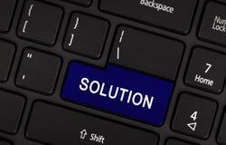 Laptopu guzik - rozwiązanie Obraz Stock